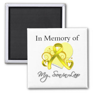 Son-in-Law - In Memory of Military Tribute Refrigerator Magnet