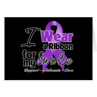 Son-in-Law - Pancreatic Cancer Ribbon Greeting Card