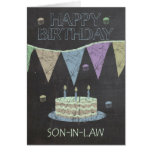 Son-in-Law Trendy Chalk Board Effect, Greeting Cards