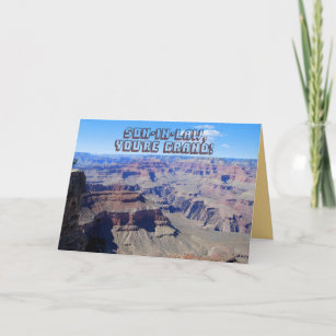 Son In Law Youre Grand Canyon Birthday Card