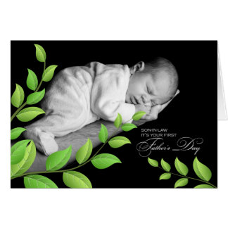 Son-in-Law's   1st Father's Day   Newborn Greeting Card