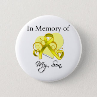 Son - In Memory of Military Tribute 6 Cm Round Badge