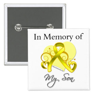 Son - In Memory of Military Tribute Buttons