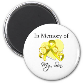 Son - In Memory of Military Tribute Refrigerator Magnet