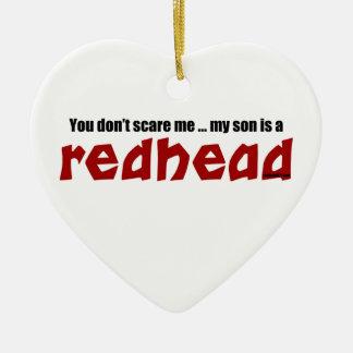 Son is a Redhead Christmas Ornament