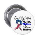 Son - My Soldier, My Hero Patriotic Ribbon 6 Cm Round Badge