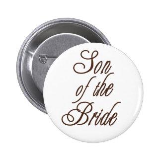Son of Bride Classy Browns 6 Cm Round Badge