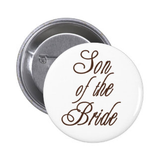 Son of Bride Classy Browns 6 Cm Round Badge