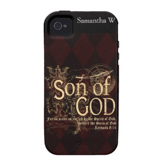Son of God Romans 8 14 Christian iPhone 4 Cases