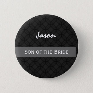SON OF THE BRIDE Wedding Black and White 6 Cm Round Badge