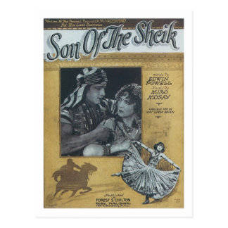 Son of the Sheik Vintage Songbook Cover Postcard