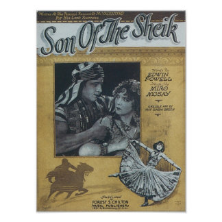 Son of the Sheik Vintage Songbook Cover Poster