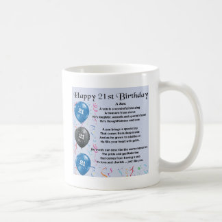 Son Poem  - 21st Birthday Design Basic White Mug