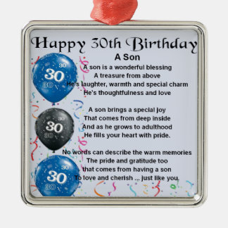 Son Poem  - 30th Birthday Design Christmas Ornament