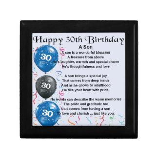 Son Poem  - 30th Birthday Design Gift Box