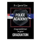 Son, Police Academy Graduation Congratulations Card