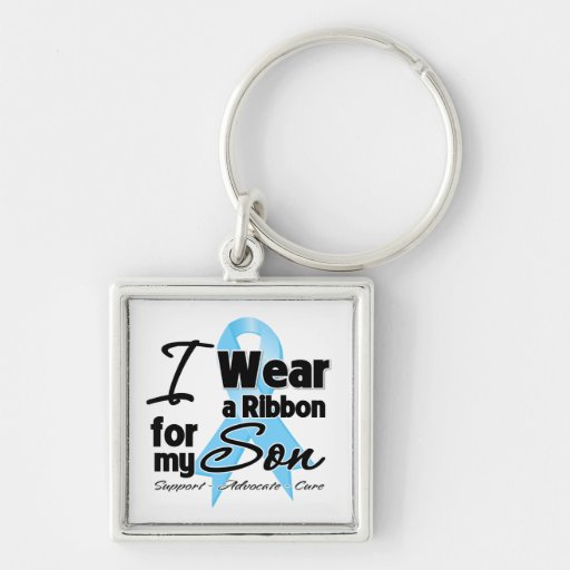 Son - Prostate Cancer Ribbon Keychains