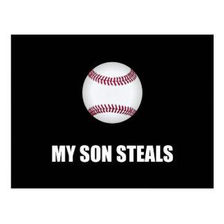 Son Steals Baseball Postcard