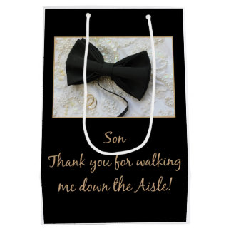 Son  Thanks for Walking me down Aisle Medium Gift Bag