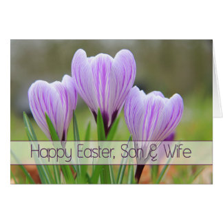 Son & Wife Happy Easter Greeting Card