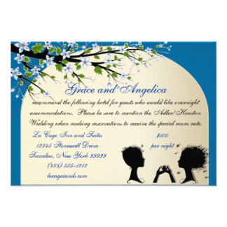 Sonata Custom Lesbian Wedding Accommodations Cards
