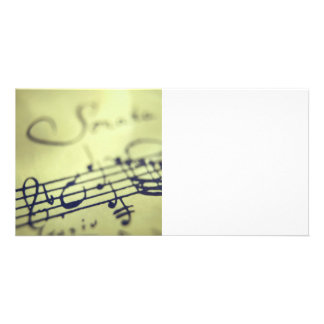 Sonata Sheet Music 1 Photo Card Template