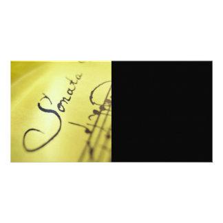 Sonata Sheet Music 2 Personalized Photo Card