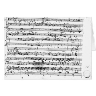 Sonate Premiere for violin and harpsichord Card