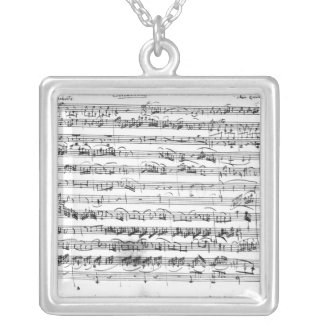 Sonate Premiere for violin and harpsichord Silver Plated Necklace