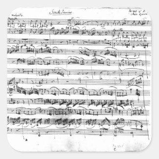 Sonate Premiere for violin and harpsichord Square Stickers