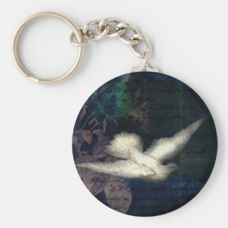 Song Bird Brings Peace Basic Round Button Key Ring
