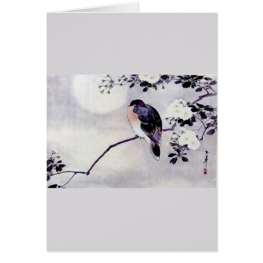 Song Bird Japanese print Cards