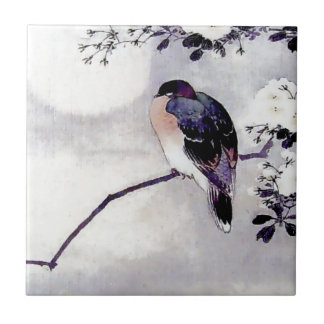 Song Bird Japanese print Tile