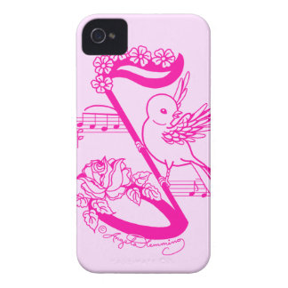 Song Bird On A Musical Note With FDaisies iPhone 4 Case-Mate Case