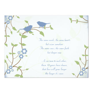 Song Birds Wedding Anniversary Vow Renewal Card