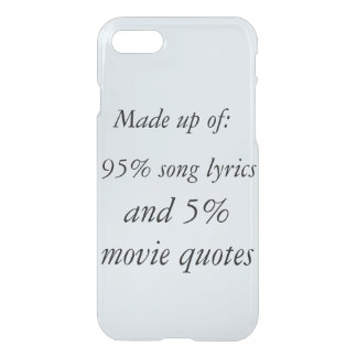 Song lyrics and movie quotes phone case