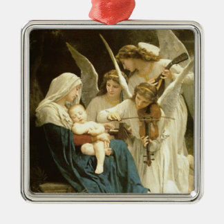 Song of Angels Christmas Nativity Jesus Manger Square Metal Christmas Ornament