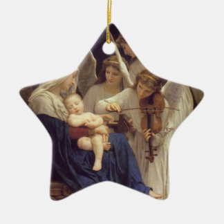 Song of Angels Double-Sided Star Ceramic Christmas Ornament