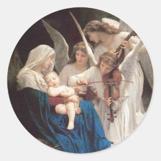 Song of Angels, William-Adolphe Bouguereau Round Sticker
