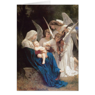 Song of Angels - William Bouguereau Christmas Greeting Card