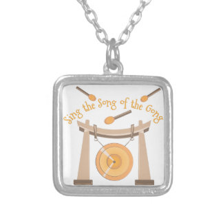 Song Of Gong Square Pendant Necklace
