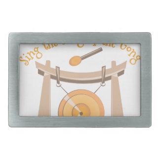 Song Of Gong Rectangular Belt Buckle