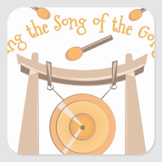 Song Of Gong Square Sticker