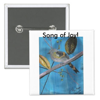 Song of joy! 15 cm square badge