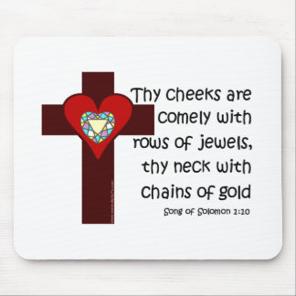Song of Solomon 1:10 Mouse Pad