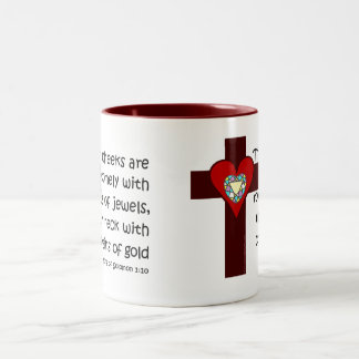 Song of Solomon 1:10 Two-Tone Mug