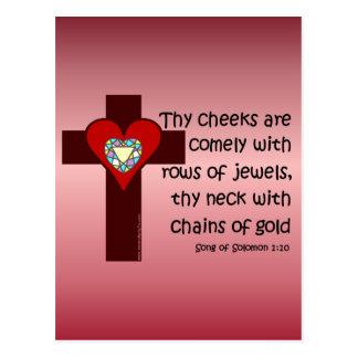 Song of Solomon 1:10 Postcard
