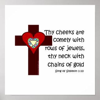 Song of Solomon 1:10 Print