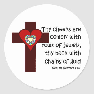 Song of Solomon 1:10 Round Stickers