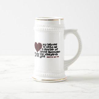 Song of Solomon 1:14 Beer Stein